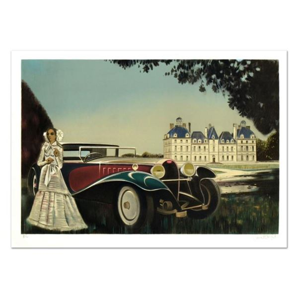 """Robert Vernet Bonfort, """"The Car"""" Limited Edition Lithograph, Numbered and Hand S"""