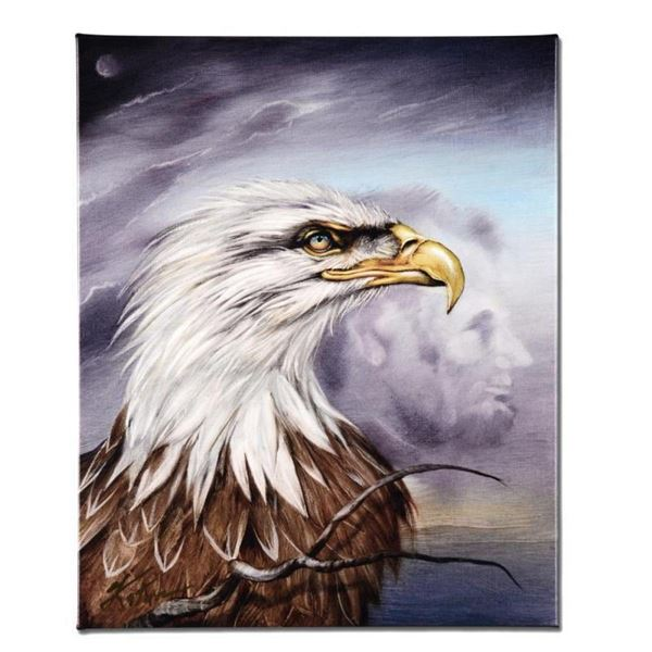 """""""Regal Eagle"""" Limited Edition Giclee on Canvas by Martin Katon, Numbered and Han"""