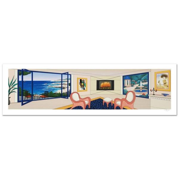 """""""Villa In Big Sur"""" Limited Edition Serigraph By Fanch Ledan, Numbered and Hand S"""