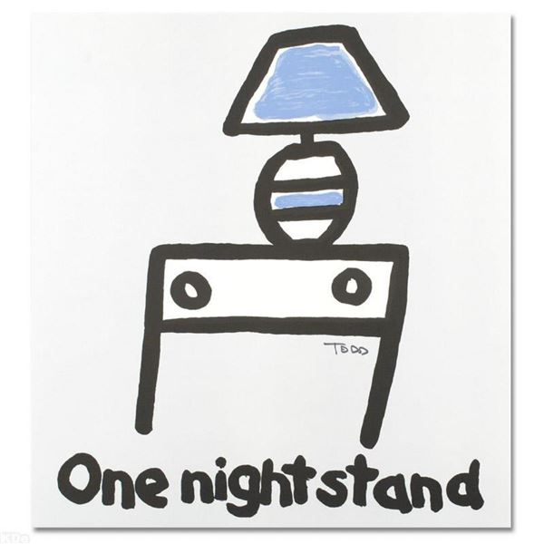 """""""One Night Stand"""" Limited Edition Lithograph by Todd Goldman, Numbered and Hand"""