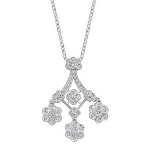 18k White Gold 1.40 ctw Diamond Pendant, (SI1 /H-I)