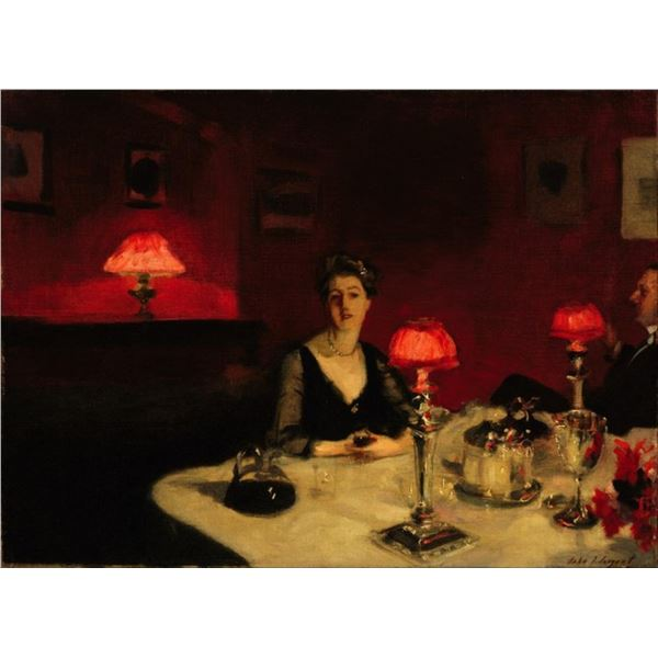 Sargent - A Dinner Table at Night