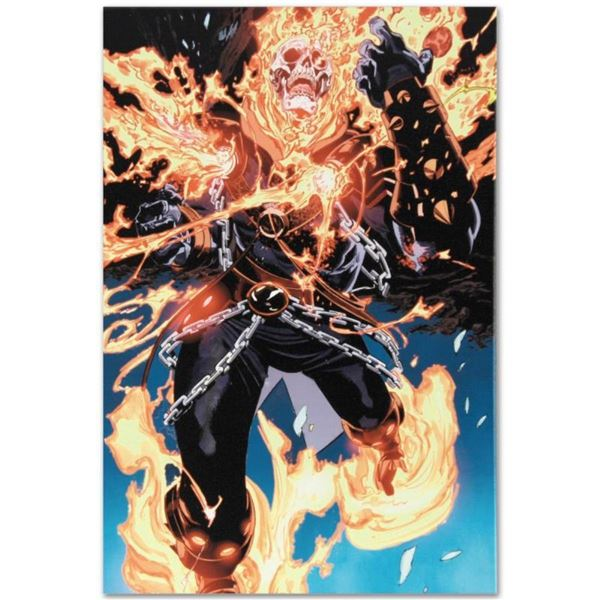 """Marvel Comics """"Ghost Rider #28"""" Numbered Limited Edition Giclee on Canvas by Tan"""