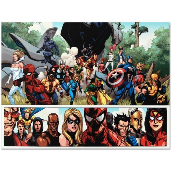 """Marvel Comics """"Secret Invasion #1"""" Numbered Limited Edition Giclee on Canvas by"""