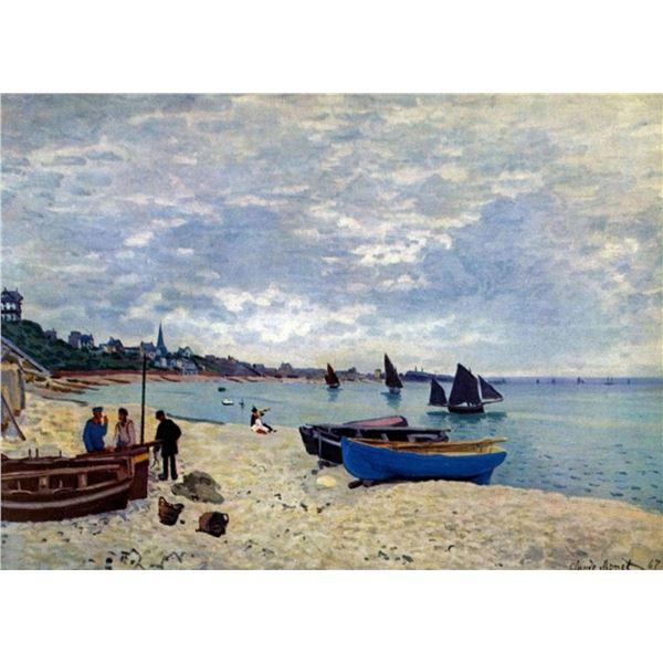 Claude Monet - The Beach at Sainte Adresse #2
