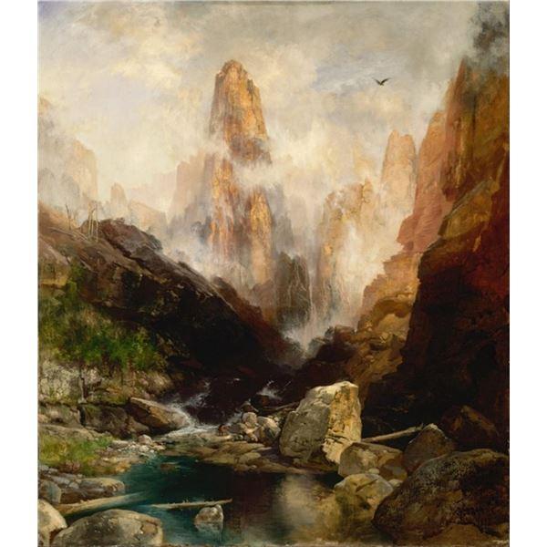 Thomas Moran - Mist in Kanab Canyon