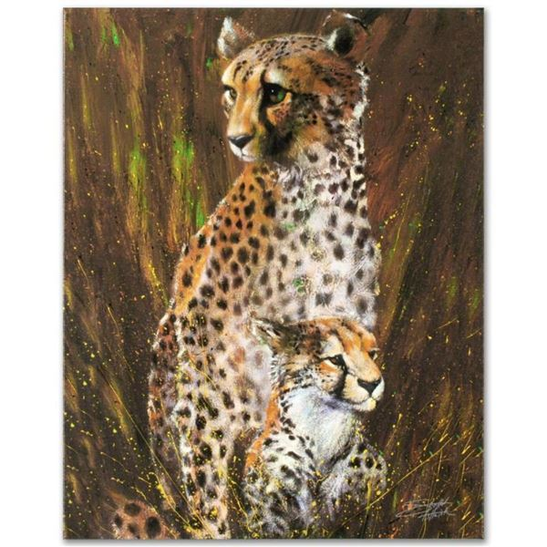 """""""Mother and Child"""" Limited Edition Giclee on Canvas by Stephen Fishwick, Numbere"""