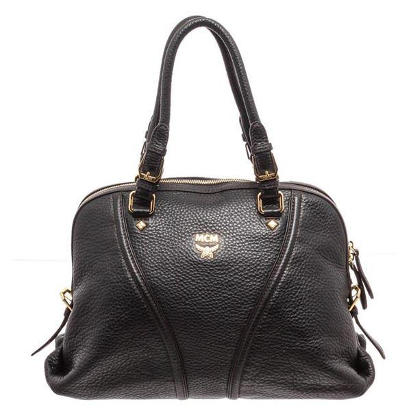 MCM Black Leather Medium Milla Tote Bag
