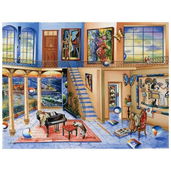 """Alexander Astahov, """"Old Eygpt"""" Hand Signed Limited Edition Giclee on Canvas with"""