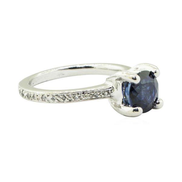 2.00 ctw Blue Sapphire and Diamond Ring - Platinum
