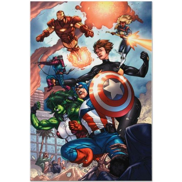 """Marvel Comics """"Avengers #84"""" Numbered Limited Edition Giclee on Canvas by Scott"""