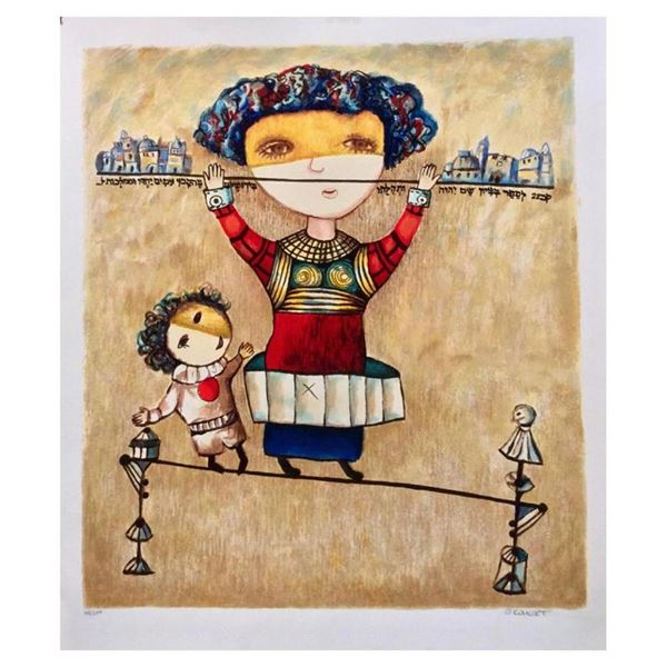 """Gregory Kohelet, """"Tightrope Walkers"""" Hand Signed Limited Edition Serigraph with"""