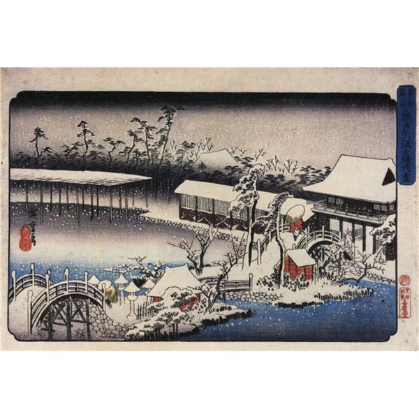 Hiroshige Temple Complex in the Snow