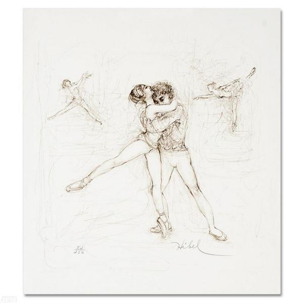 """""""Pas de Deux"""" Limited Edition Lithograph by Edna Hibel (1917-2014), Numbered and"""