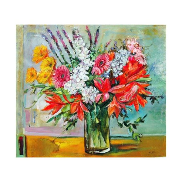 """Lenner Gogli, """"Ornate Bouquet"""" Limited Edition on Canvas, Numbered and Hand Sign"""
