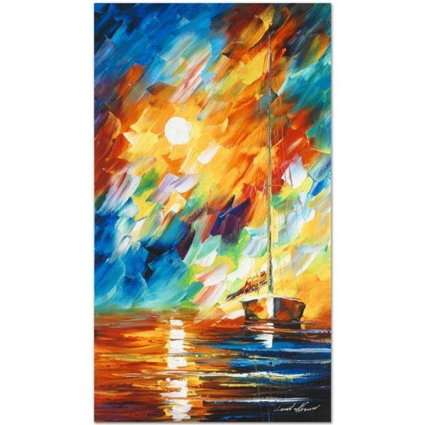"""Leonid Afremov (1955-2019) """"Rainbow Sky"""" Limited Edition Giclee on Canvas, Numbe"""