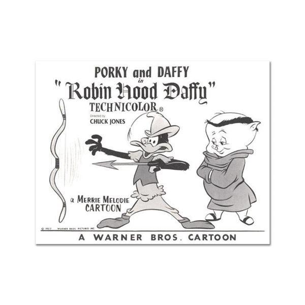 "Chuck Jones ""Robin Hood Daffy Lobby Card Litho"" Limited Edition Lithograph."
