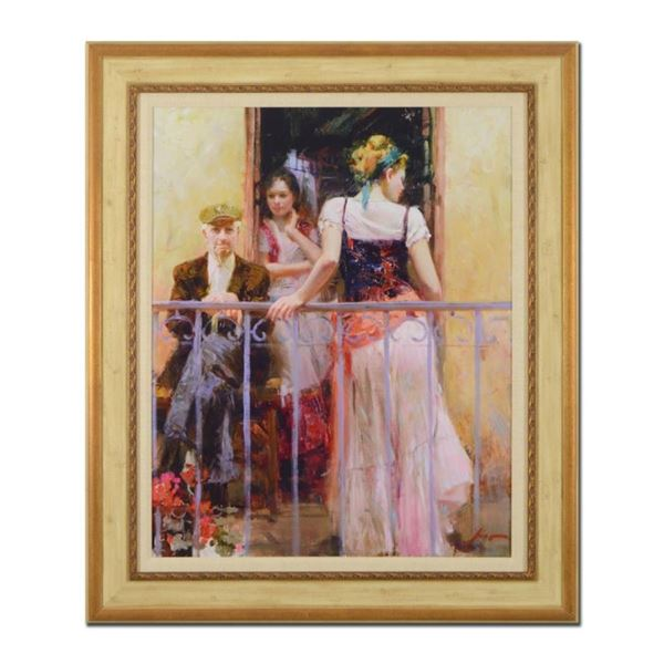 Pino (1939-2010),  Family Time  Framed Limited Edition Artist-Embellished Giclee