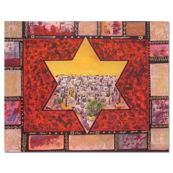 """Victor, """"Star of Jerusalem """" Hand Signed Limited Edition Serigraph with Letter o"""