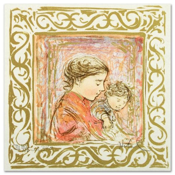"""""""Amanda"""" Limited Edition Lithograph by Edna Hibel (1917-2014), Numbered and Hand"""