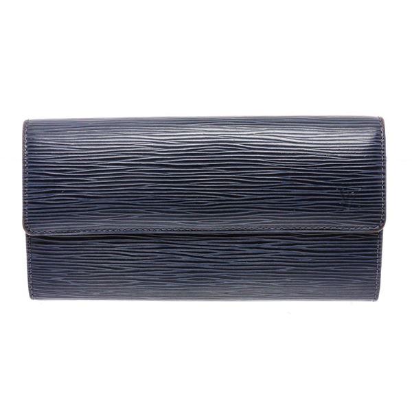 Louis Vuitton Blue Epi Leather Sarah Long Wallet