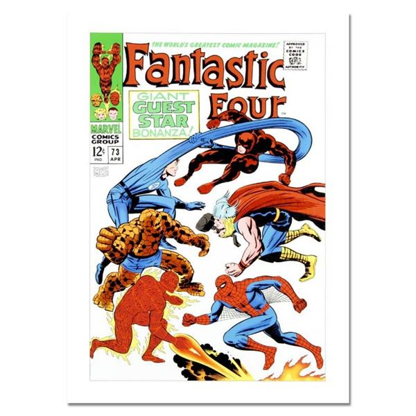 """Marvel Comics, """"Fantastic Four #73"""" Numbered Limited Edition Canvas by Jack Kirb"""
