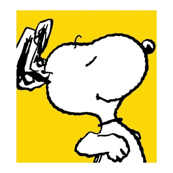 """Peanuts, """"Snoopy: Yellow"""" Hand Numbered Canvas (40""""x44"""") Limited Edition Fine Ar"""
