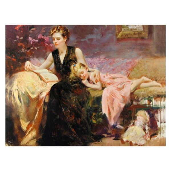 """Pino (1931-2010), """"Precious Moments"""" Limited Edition on Canvas, Numbered and Han"""