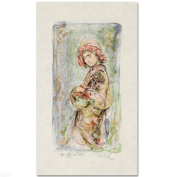 """""""Mildred"""" Limited Edition Lithograph by Edna Hibel (1917-2014), Numbered and Han"""