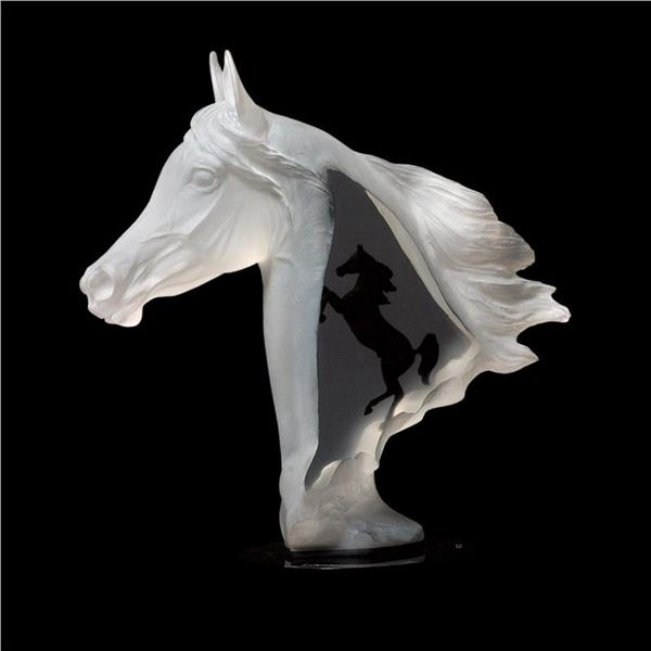 """Kitty Cantrell, """"Royal Arabian"""" Limited Edition Mixed Media Lucite Sculpture wit"""