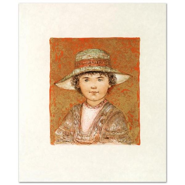 """""""Jill Ann"""" Limited Edition Lithograph by Edna Hibel (1917-2014), Numbered and Ha"""