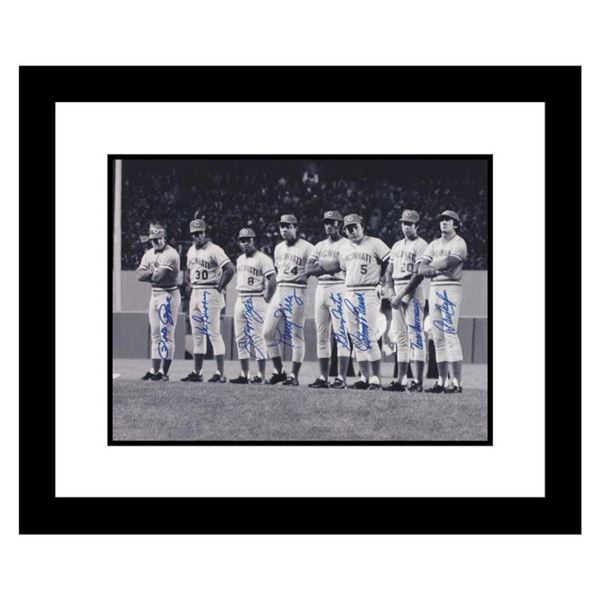 """""""Big Red Machine Line-Up"""" Framed Lithograph Signed by the Big Red Machine's Star"""