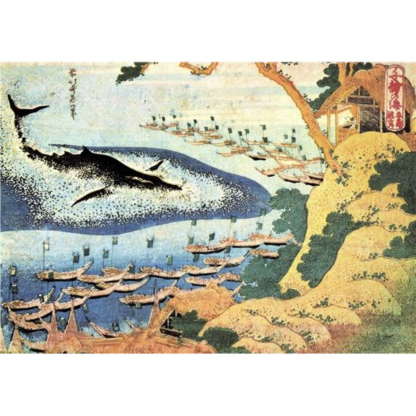 Hokusai - Ocean Landscape and Whale