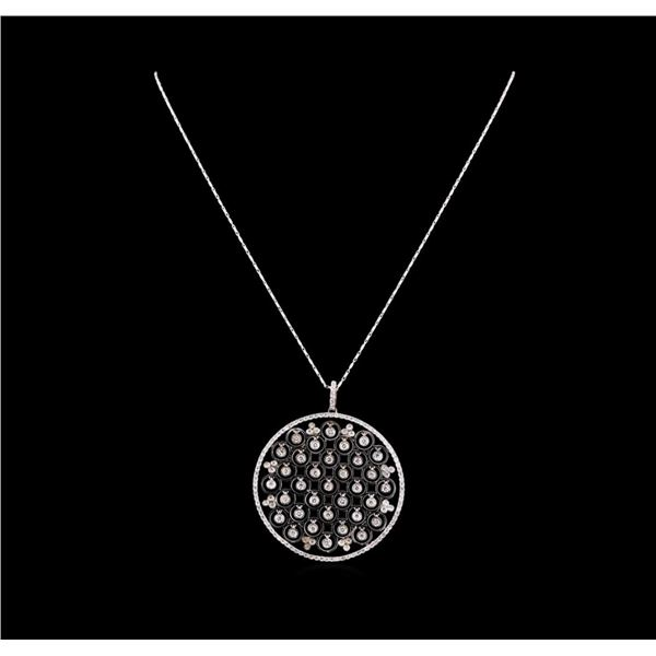 14KT White Gold 1.40 ctw Diamond Pendant With Chain