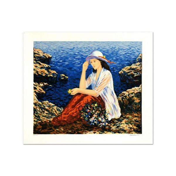 """Igor Semeko, """"Lady by the Cliffside"""" Limited Edition Serigraph, Numbered and Han"""