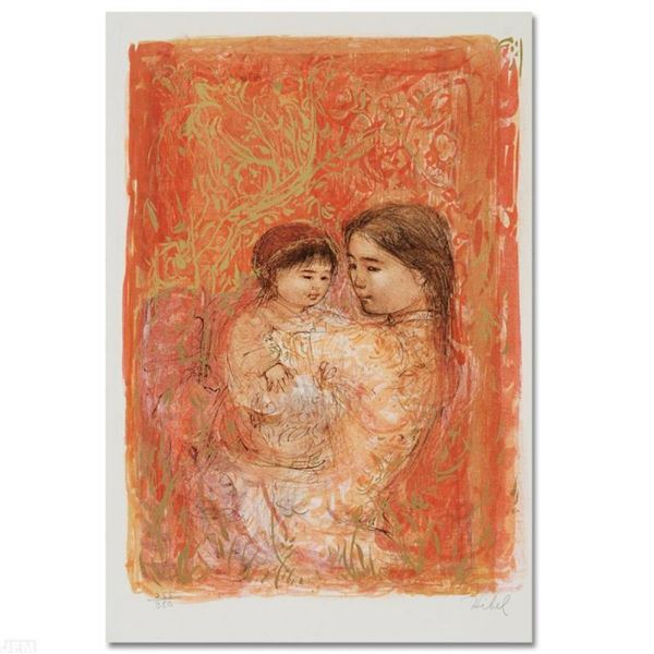 """""""Thai Family"""" Limited Edition Lithograph by Edna Hibel (1917-2014), Numbered and"""