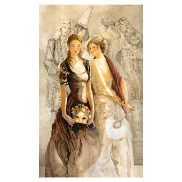 """Lena Sotskova, """"Past & Present"""" Hand Signed, Artist Embellished Limited Edition"""