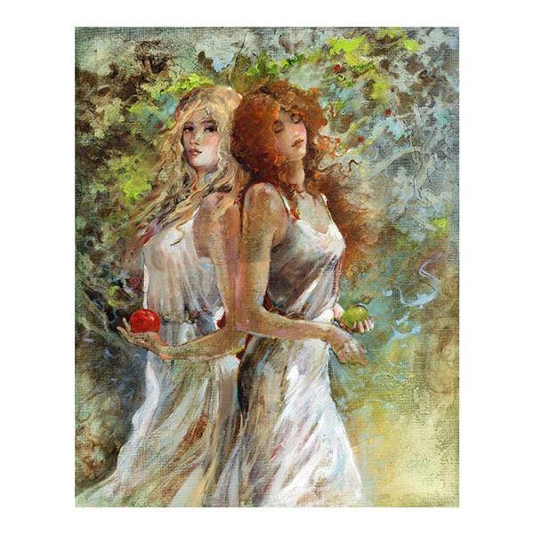 "Lena Sotskova, ""Tree of Life"" Hand Signed, Artist Embellished Limited Edition Gi"