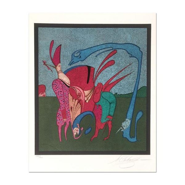 """Mihail Chemiakin, Carnival Series: """"Untitled 11"""" Limited Edition Lithograph, Num"""
