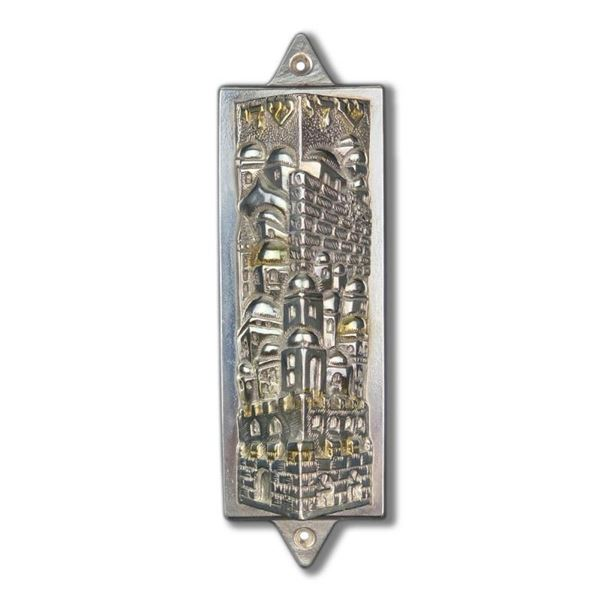 Raphael Abecassis Sterling Silver Electroform Mezuzah with Letter of Authenticit