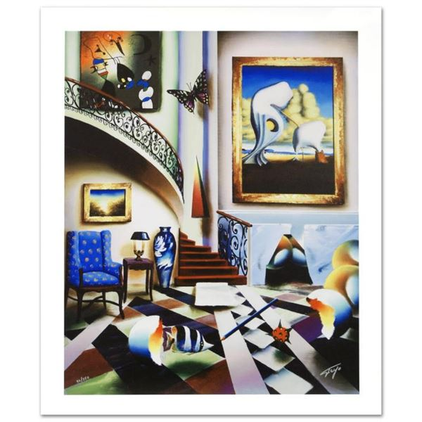 Surrealist Stairway  Limited Edition Giclee on Canvas by Ferjo, Numbered and Ha