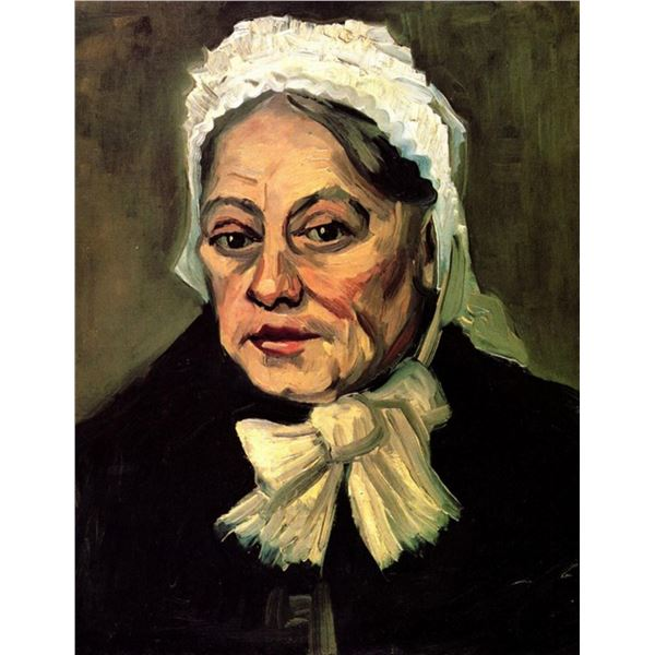 Van Gogh - Head Of An Old Woman With White Cap The Midwife
