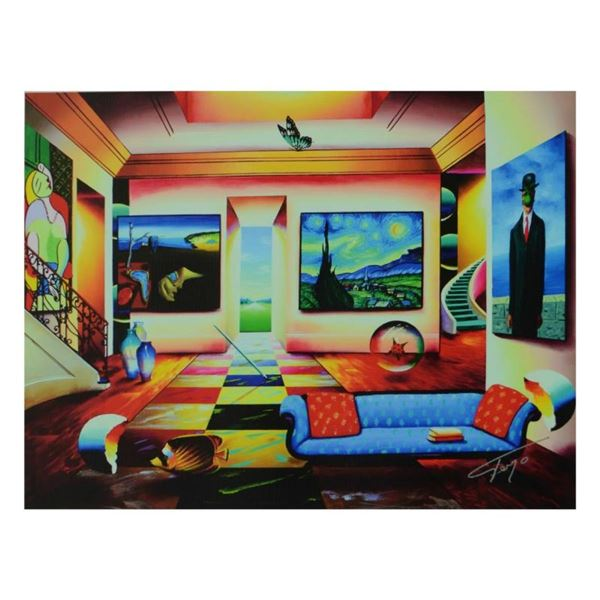 """Ferjo, """"The Salon"""" Limited Edition on Canvas, Numbered and Signed with Letter of"""