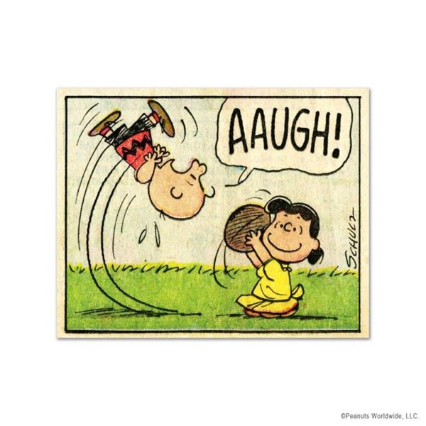 """Peanuts, """"AAUGH!"""" Hand Numbered Limited Edition Fine Art Print with Certificate"""