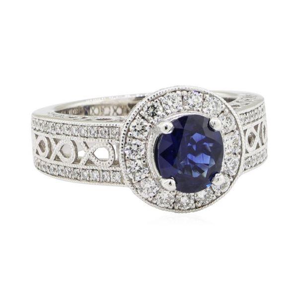 1.89 ctw Sapphire and Diamond Ring - Platinum
