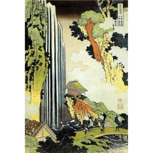 Hokusai - Waterfall
