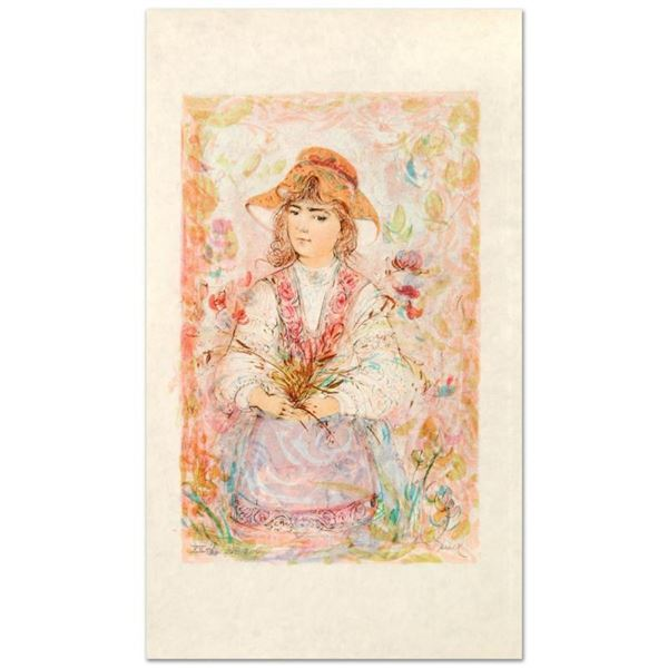 """""""Heidi"""" Limited Edition Lithograph by Edna Hibel (1917-2014), Numbered and Hand"""