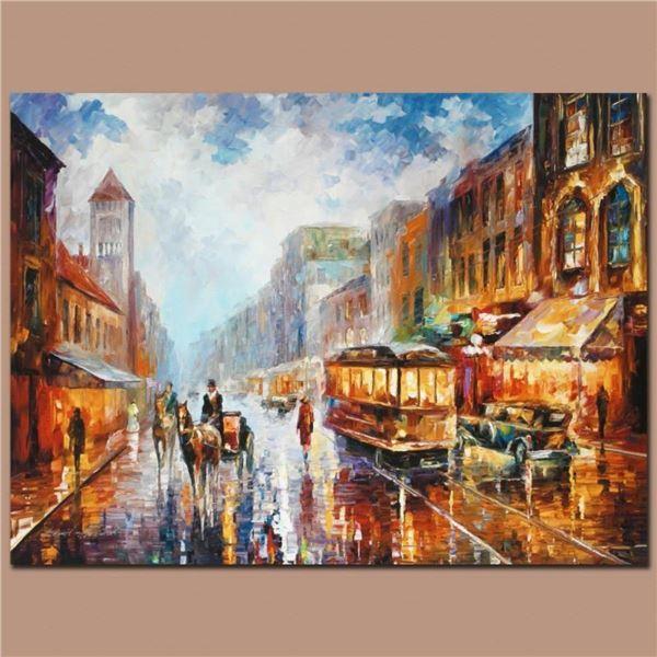 "Leonid Afremov (1955-2019) ""Paris 1925"" Limited Edition Giclee on Canvas, Number"