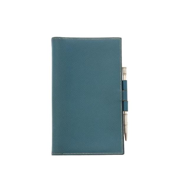 Hermes Jeans Leather Agenda Cover Wallet
