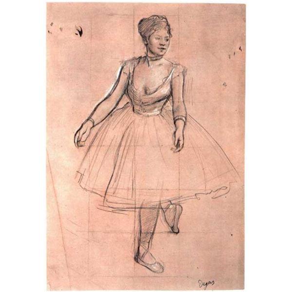 Edgar Degas - Ballet Dancer In Three-Quarter Front View